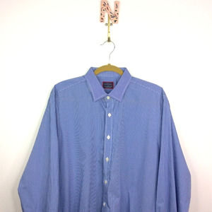 Untuckit Button Down Shirt Gingham Plaid Large